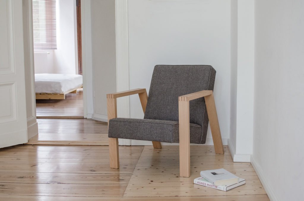 Pontier N°1 armchair with Kvadrat Molly 2 - 194 upholstery